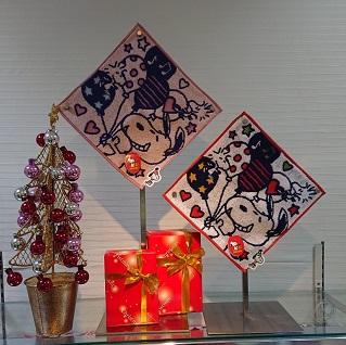 [婦人服飾]クリスマス好適品[ハンカチ]