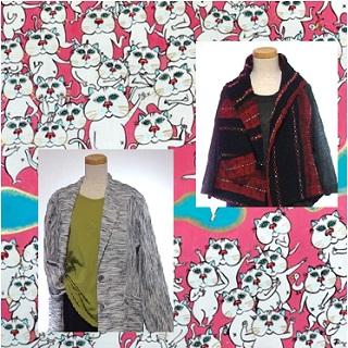 絲禅 民芸織服展と永島麟のいたずら猫の世界