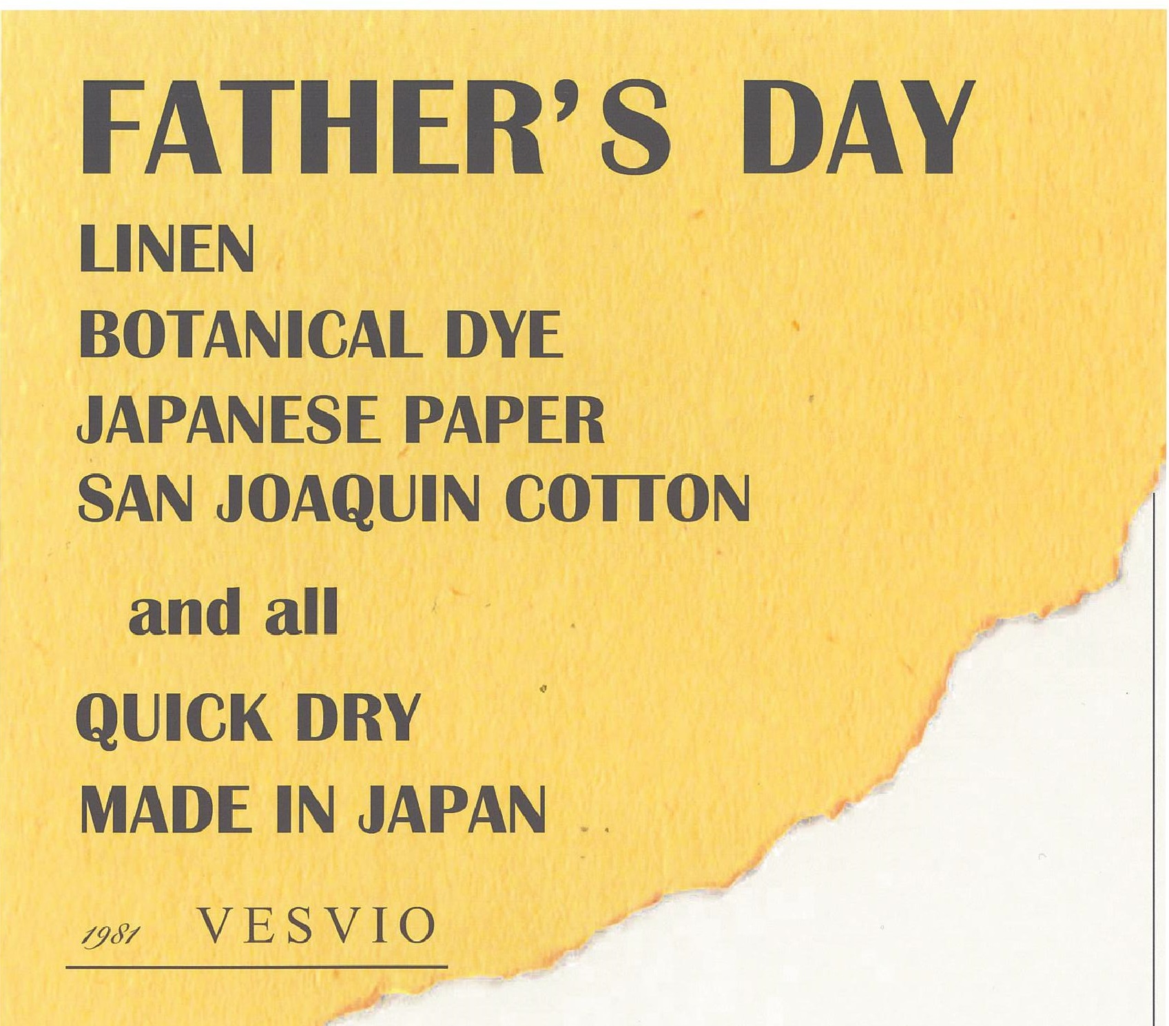 VESVIOの「FATHER'S DAY」