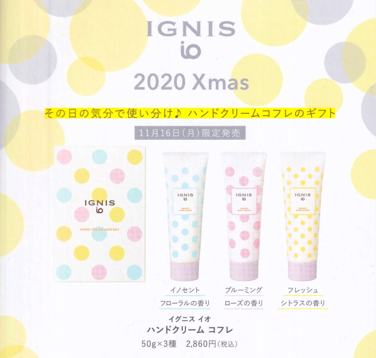 【IGNIS iO】<br>限定商品のご案内
